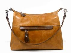 Leather Hobo Purse Tan and Brown Leather Shoulder by ThePurseCo