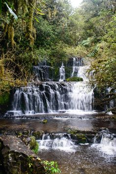 """yes-to-adventure: """"Purakaunui Falls in the Catlans. The Catlins, South Island, New Zealand """""""