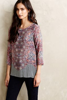 Sydney Silk Blouse #anthropologie