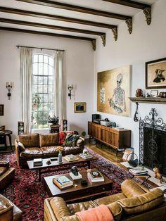 Eclectic Living Room, Boho Living Room, Eclectic Decor, Living Room Designs, Bohemian Living, Cozy Living, Bohemian Style, Quirky Living Room Ideas, Bohemian Decor
