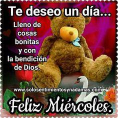 Te deseo un día lleno de cosas bonitas y con la bendición de Dios.