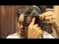 How to Flat Twist Natural Hair - Tutorial - YouTube