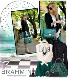 """""""How do you wear your Brahmin?"""" by edenslove ❤ liked on Polyvore"""