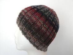Merino Wool Beanie for Men/Teen Boys Hand Knit Ribbed by Girlpower, $34.00