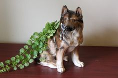 Vintage German Shepherd Planter Relpo by PhoebesTreasureChest, $18.95