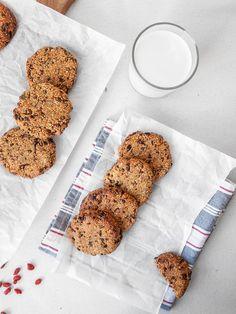 Superfood Cookies! Glutenfreie, zuckerfreie & vegane Cookies voller Superfoods | freiknuspern - Rezepte für Allergiker!