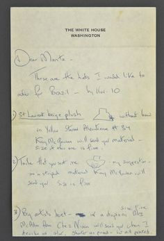 Jackie Kennedy's Fashion Letters to Bergdorf Goodman: Jackie Kennedy's Letter and Sketches of Hats for Bergdorf Goodman