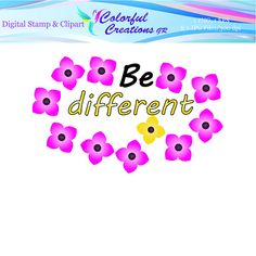 Be Different Digital Stamp For Personal And Commercial Use