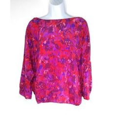 Joie Tops | Joie Floral Print Silk Flowy Vback Blouse | Poshmark Blossoms, Floral Prints, Tunic Tops, Stripes, Silk, Blouse, Sleeves, Outfits, Things To Sell
