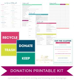 Check out this awesome decluttering kit! It's a part of the exclusive Spring Cleaning Printable Bundle available for a limited time, so check it out now!