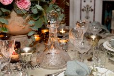 Beautiful glassware for a vintage wedding