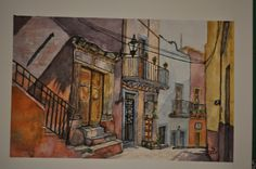 Guanajuato - Watercolor on 140lb Arches 12x 16 block. 2015.