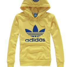 adidas hoodie yellow blue via Luxury store. Click on the image to see more!
