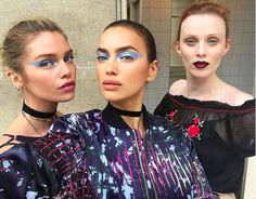 These Gorgeous Looks From Paris Couture Are Actually Really Wearable #refinery29  http://www.refinery29.com/2016/07/115891/makeup-looks-couture-fashion-week-2016#slide-7  McGrath documented the show on her Instagram this week, dropping hints, specifically during the Versace show, about new additions to her Pat McGrath Labs makeup line. We're hoping it's this metallic-blue shadow (or liner?). Or possibly an ombré lip kit? We can't get over the candy-apple dab of color along the center of the…