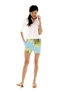 jcp oxford shirt and printed shorts
