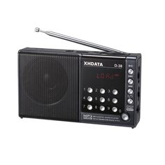 XHDATA D-38 FM-Stereo / MW / SW / MP3-Player / DSP Vollband Radio D38 gray