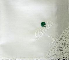 Lucky Shamrock Handkerchief For the Bride And Groom $27.00