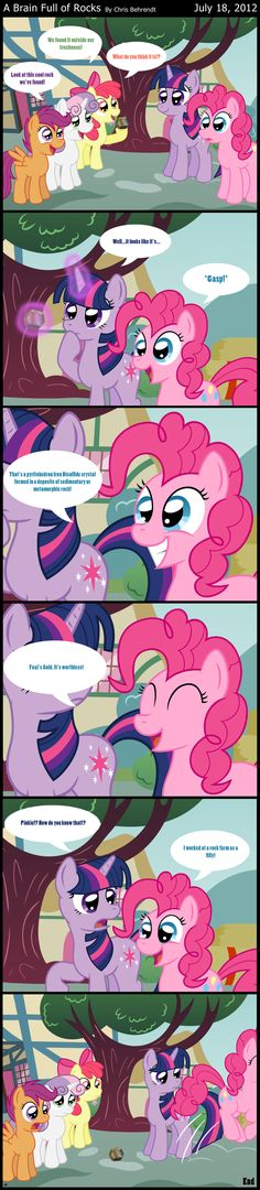 ENFP Pinkie Pie- surprise, she has brains behind that silly smile.