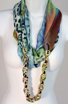 Shop Blue Print Infinity Jewelry Scarf at #Patchington   MY FAVORITE BOUTIQUE!