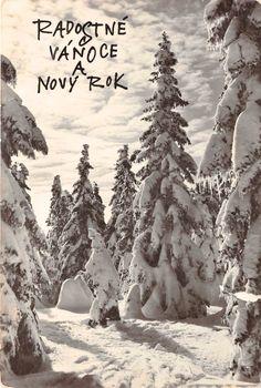 Vintage Christmas Cards, Memories, History, Postcards, Outdoor, European Countries, Czech Republic, Art, Memoirs