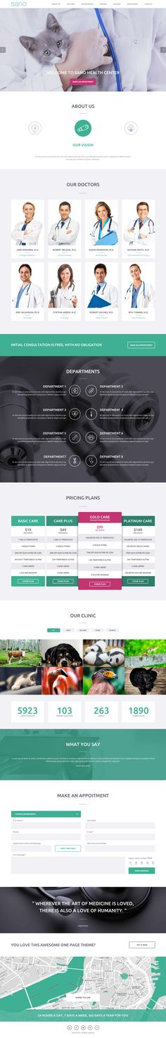 'Sano' is a new One Page HTML template suited for health and medical websites. There are different demos for doctors, dentists, hospitals, health clinics and surgeons. It's great to see a theme shop go more niche and target landing page sub-categories and not just try cater for everyone. In doing so we can really experience the final output better - in these examples you'll see sections for doctors instead of team, departments instead of services and an appointment booking form instead of a…