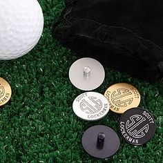 Combine these with personalized golf balls...= Groomsmen gifts? Personalized Golf Ball Markers Set With Initial Monogram - 2190D