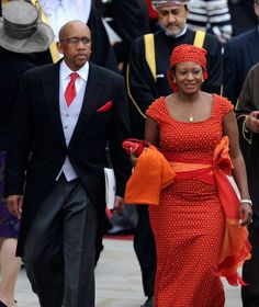 Their Royal Highnesses, Prince Seeiso and Princess Mabereng of Lesotho