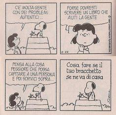 Snoopy suggerisce soluzioni