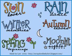 Seasonal Word Art