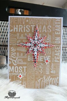 Magical Scrapworld, starlight, cards, christmas, merry medley, Stampin' Up!, starlight thinlits.