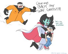 "diddly-darn-ghost: ""I am reminded about how much I love Danny's Big Brick Dad "" Danny Phantom Vlad, Danny Phantom Funny, Phantom 3, Cartoon Games, Cartoon Shows, Phantom Comics, Minions, Randy Cunningham, Gravity Falls"