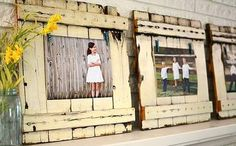 Pallet frames - how rustic and cute