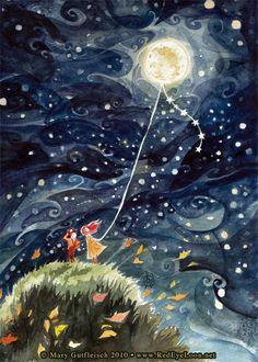 Flying the Moon - RedEyeLoon  De aqui a la luna mi amor!!