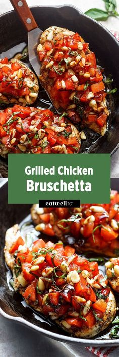 These grilled chicken bruschetta are so amazing–with fresh tomatoes, basil, pine nuts and a tangy sweet balsamic glaze on top, it is a winner for a weeknight dinner for two. Not only it is quickto…