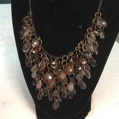 "Selling this ""Amber Gray Rhinestone beaded necklace"" in my Poshmark closet! My username is: kennjenn2010. #shopmycloset #poshmark #fashion #shopping #style #forsale #Jewelry"
