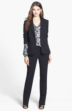 Free shipping and returns on Vince Camuto Blazer, Blouse & Straight Leg Pants at Nordstrom.com.