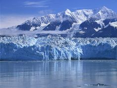 The glaciers in south eastern Alaska