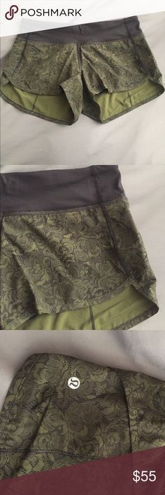 Women's Lululemon Speed shorts (New without tags) Women's Lululemon speed shorts in size 4. Made of swift ultra fabric and four way stretch material. Lightweight liner helps shorts stay in place and has a zipper pocket in the back to store essentials. NEVER WORN- juicy ripped off tags. lululemon athletica Shorts