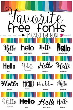 favorite fonts that are free