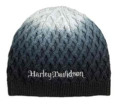 84b71bf15146d Harley-Davidson® Women s Ombre Knit-In Diamond Pattern Knit Beanie Hat  97619-18VW