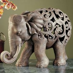 Home Decor Anjan Elephant Jali Sculpture Figurines Elephants Wild Animals Indian Elephant, Elephant Love, Elephant Art, Elephant Stuff, Elephant Design, Elephant India, Baby Elephants, Ceramic Elephant, Ceramic Animals