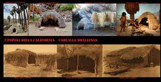 Abitazioni Cahuilla a confronto, in alto le tradizionali capanne a cupola, in basso le più pratiche abitazioni di ispirazione euroamericana.