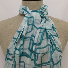 Turquoise Scarf - SC054-1 #handmadeatamazon #nazodesign