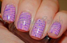 Pink. Purple. Glitter. Zebra. Nails.