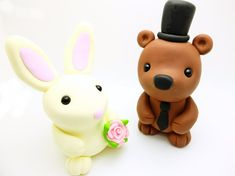 Hey, I found this really awesome Etsy listing at https://www.etsy.com/listing/272398028/bearrabbit-wedding-cake-toppers