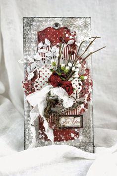 A Textured gift Tag for Christmas - Maja Design