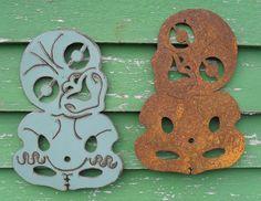 Tiki by ironweed. Polynesian People, Maori Designs, New Zealand Art, Nz Art, Maori Art, Kiwiana, Xmas Presents, Diy Christmas Gifts, Decoration