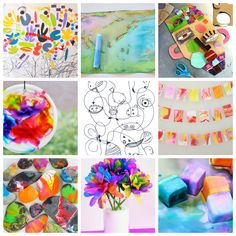 Favorite Art activities for Children: my faves include the spin art rocks, dribble creatures, and shaving cream marbling