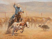 Dirty Work by Steve Atkinson Oil ~ 30 x 40