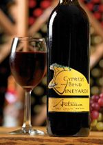 Autumn- An intense aromatic red Muscadine wine that will surprise you with its warm body and rich complexity. The intense fruitiness of this enticing wine creates a lasting impression on the palate and the memory. Swirl to the view of a crimson autumn sunset or match with cream sauce dishes, cheeses or heavy hors d'oeuvres.